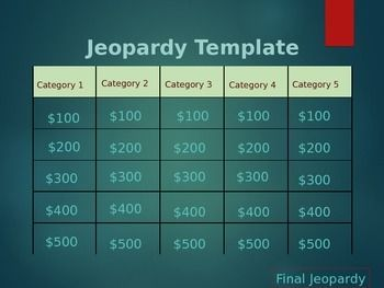editable jeopardy template powerpoint | teachers pay teachers, Modern powerpoint