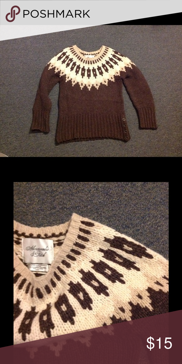 Abercrombie $ Fitch Wool Blend Fair Isle Sweater