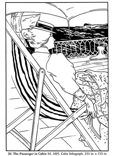 Realistic masterpiece coloring pages ~ Color Your Own Toulouse-Lautrec Masterpieces - 20. The ...