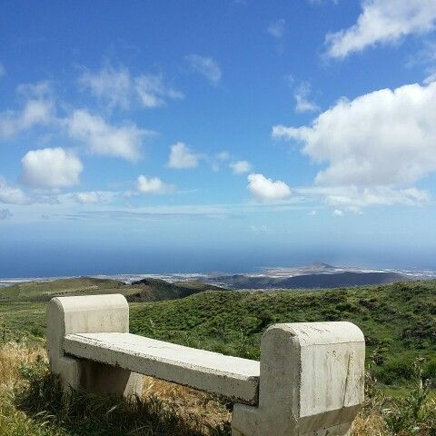 A bench with a view #GranCanaria by Michel Eamon 2015