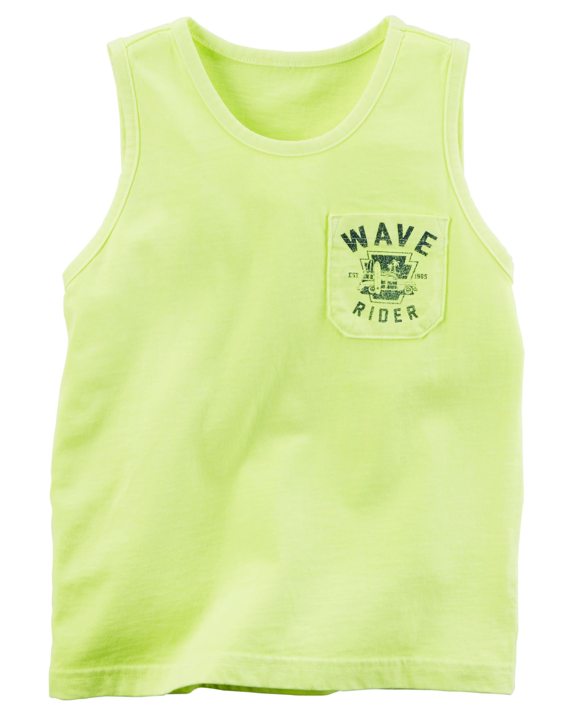 d42ff276ae0fe Baby Boy Garment-Dyed Graphic Pocket Tank from Carters.com. Shop clothing