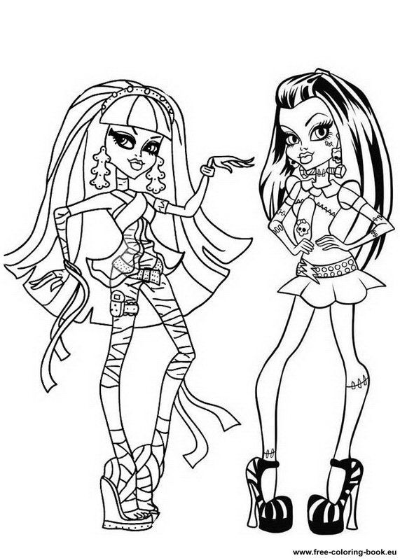 Monster High Characters Coloring Pages Page 1 Printable Online