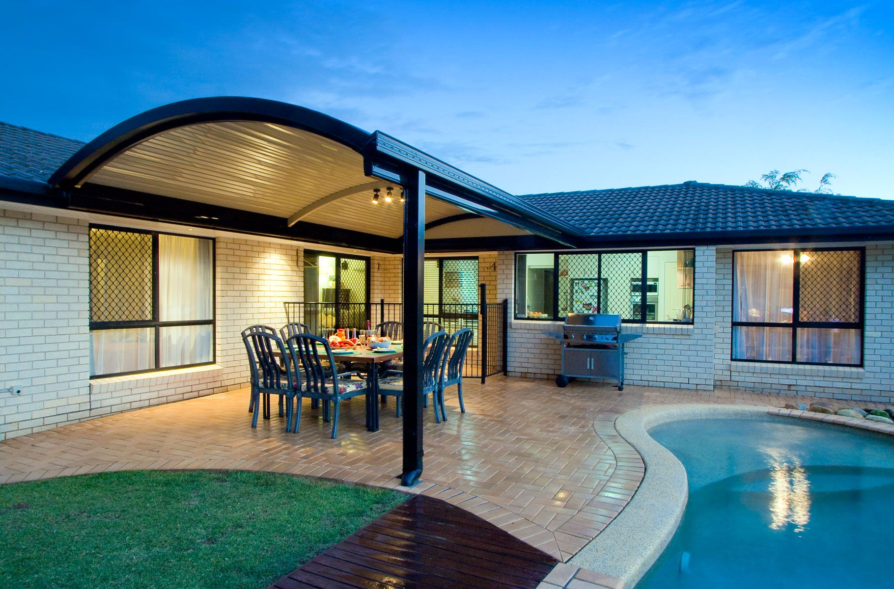 Buy a Carport Deck or Patio for your home Curved patio