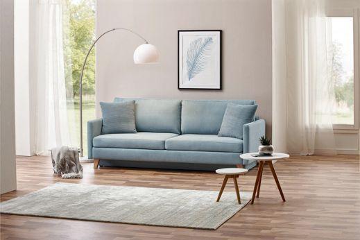 Beliebt Hellblaues Sofa mit praktischer Schlaffunktion | Ideen für unten VT16