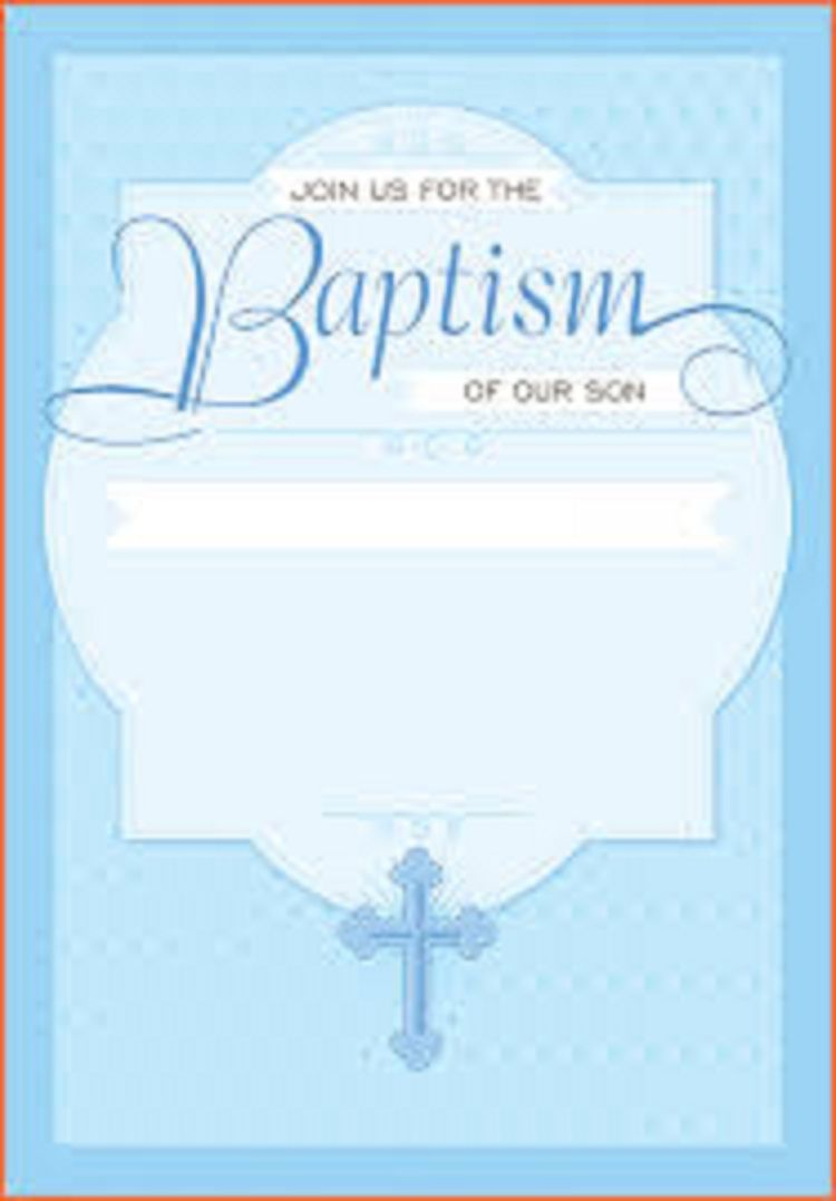 Catholic Baptism Invitations Boy Party Invitation Ideas