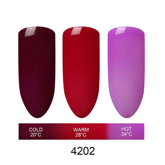 Beau Gel 3 in 1 Nail Gel Polish Mood Thermal Color Changing Polish Nail Gel Varnish Chameleon Temperature Color Change Gel