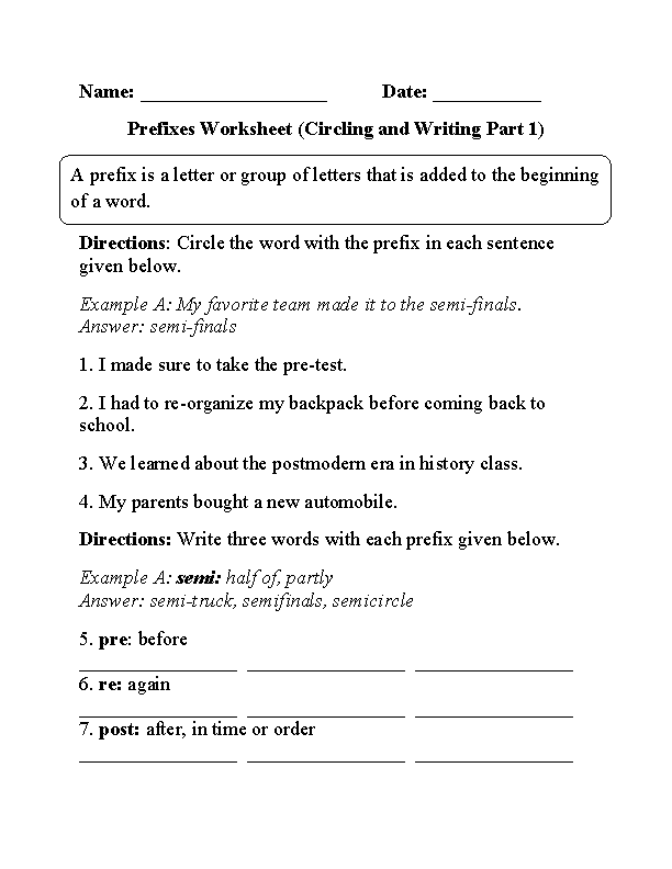circling and writing prefixes worksheet part 1 beginner board pinterest. Black Bedroom Furniture Sets. Home Design Ideas