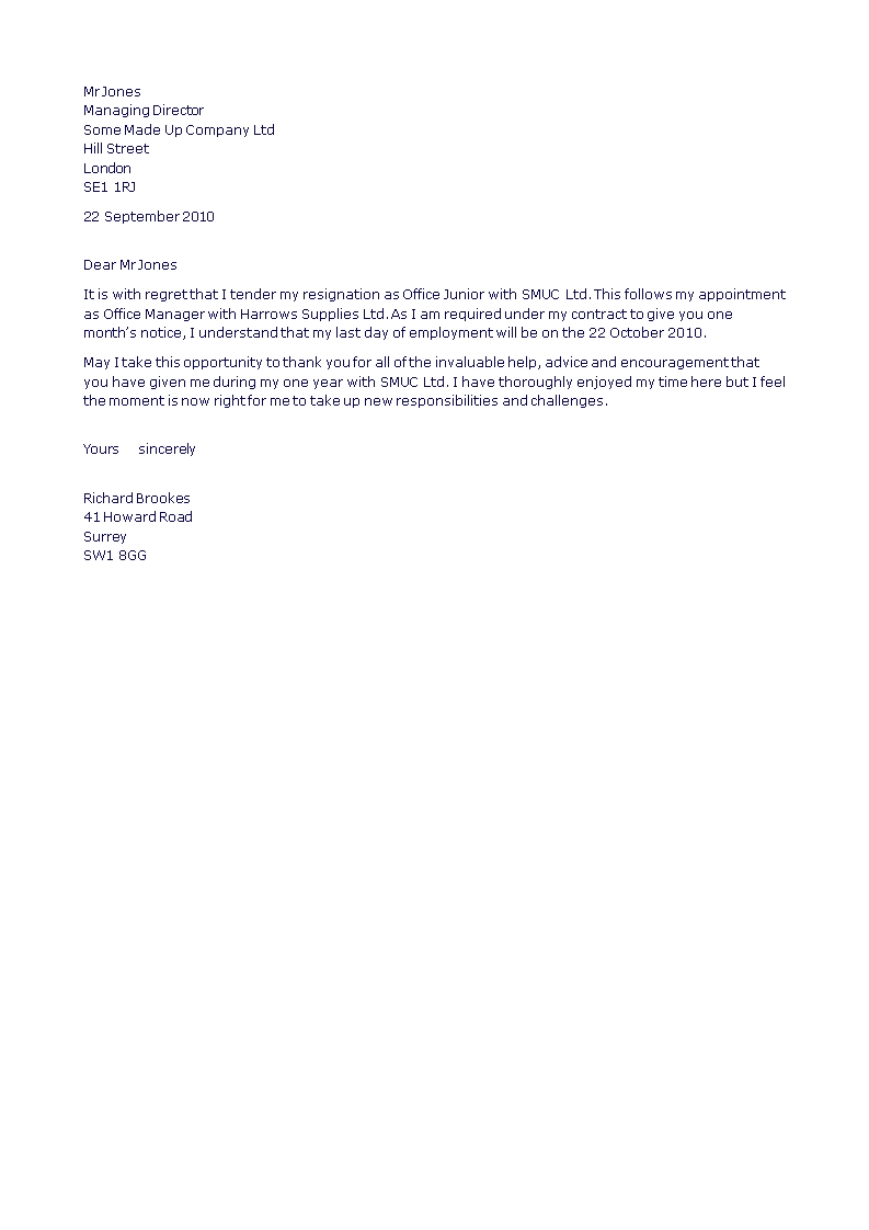 formal resignation letter  how to write a formal