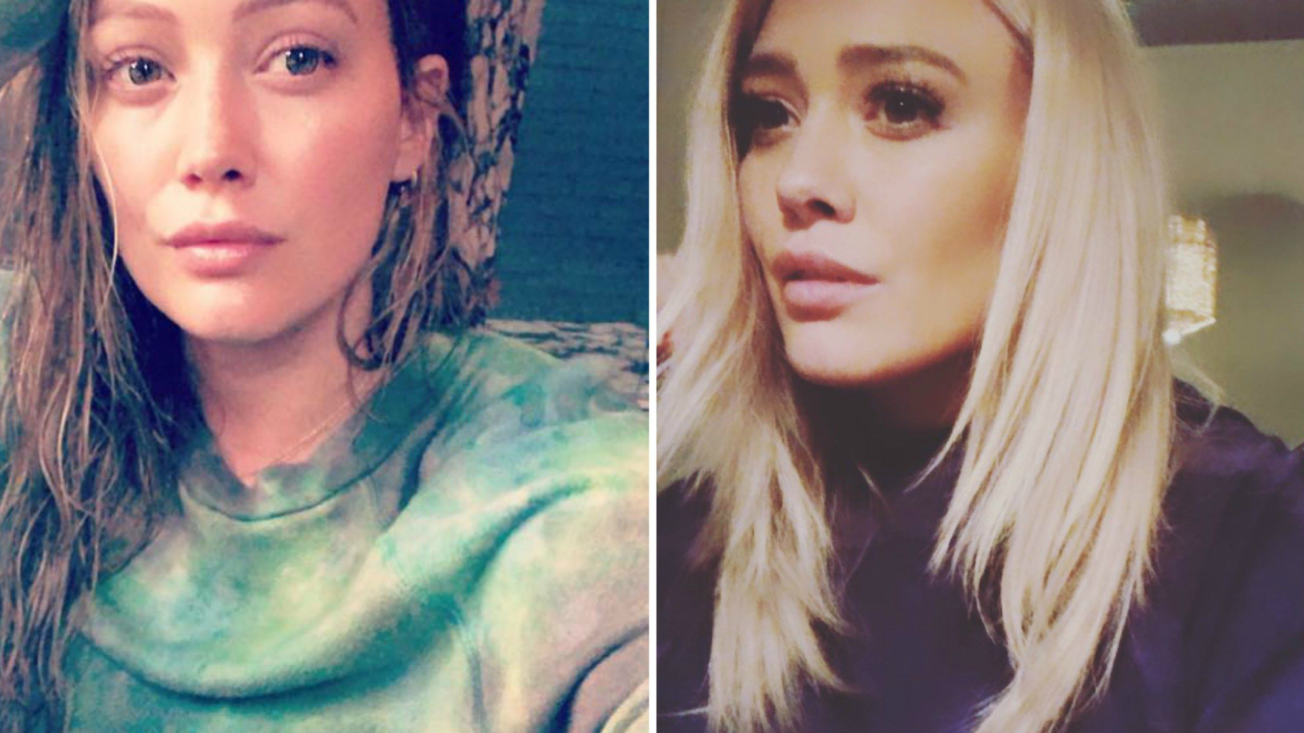 Hilary duff just dyed her hair the perfect icy shade of platinum