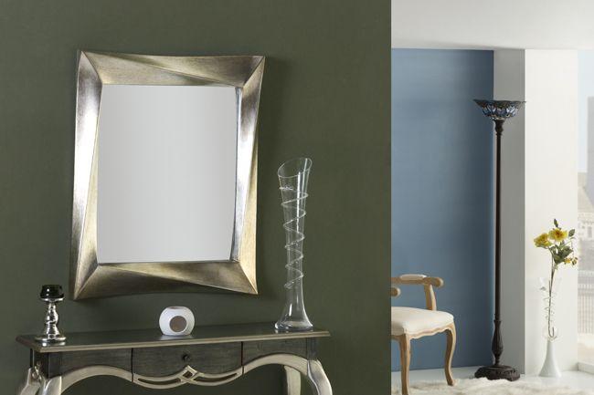 Espejos en plata espejos plateados espejos para for Espejos originales recibidor