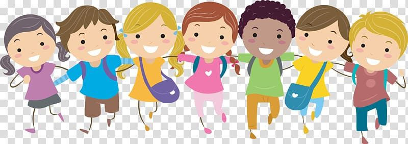 Child Free Content Pic School Children Group Of Smiling Children Holding Their Shoulders Illustra Teachers Illustration School Illustration Kids Background