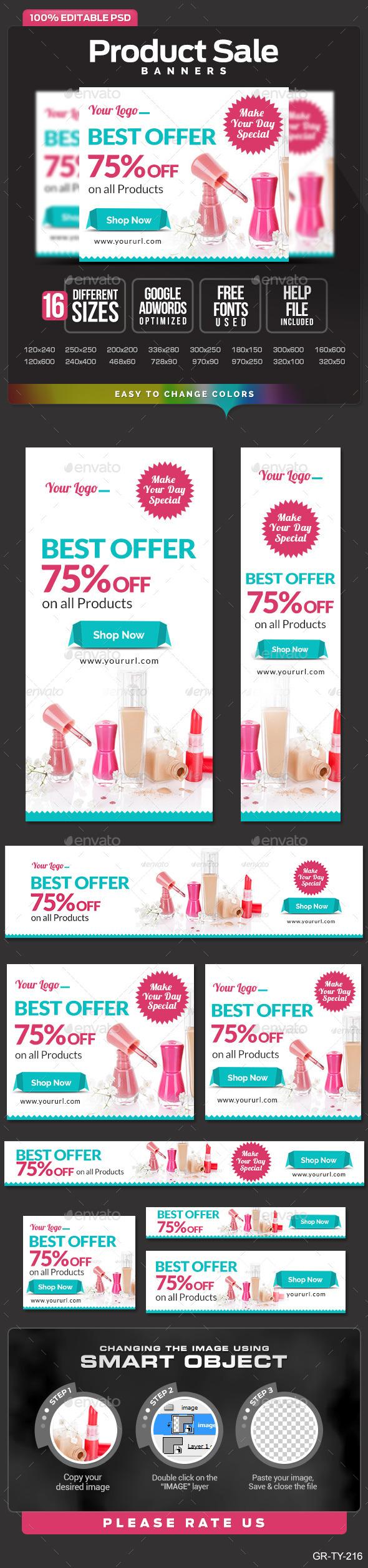 Banner design for e commerce - E Commerce Web Banner Design Set Banners Ads Web Elements