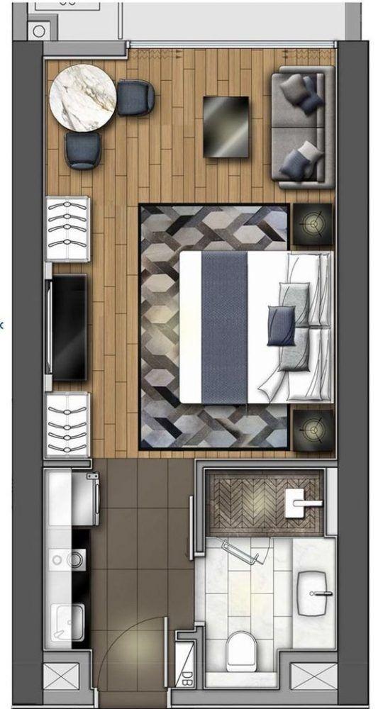 Denah Rumah Minimalis Modern 9 Denah Rumah Desain Interior Apartemen Hotel Desain