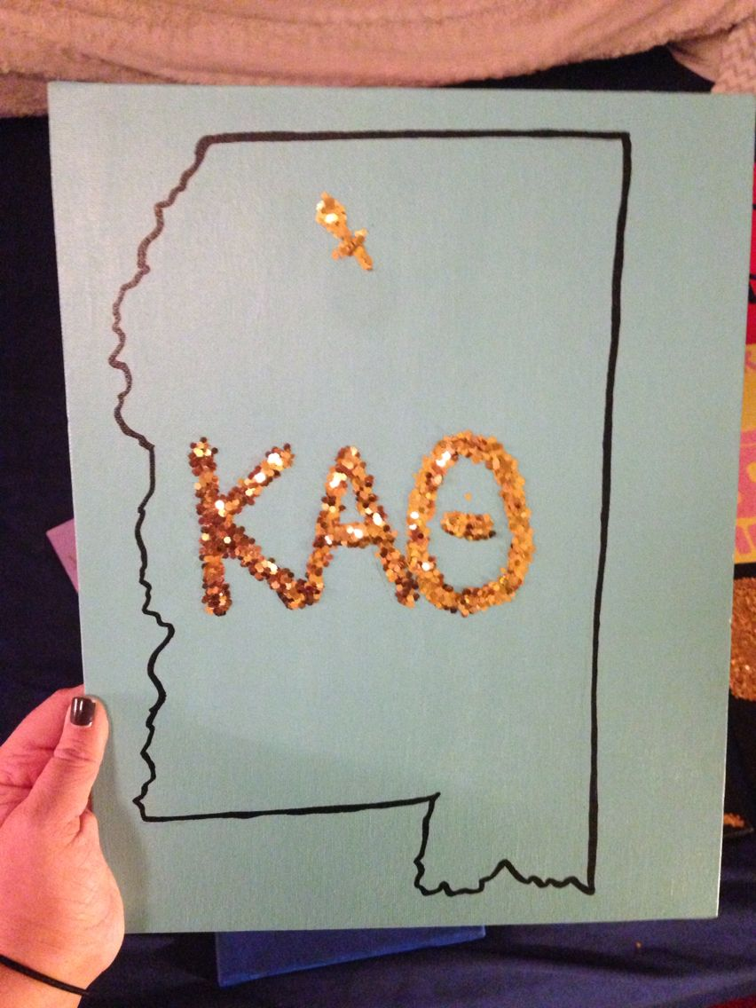Big Little Crafts DIY Kappa Alpha Theta