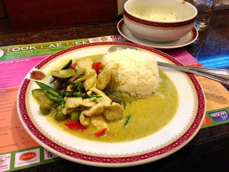 Bangkok Thailand Cheap Eats Thai Green Curry With