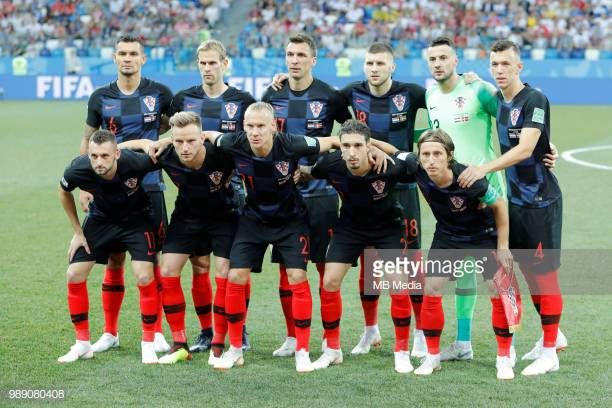 Croatia national team players pose for a photo during the