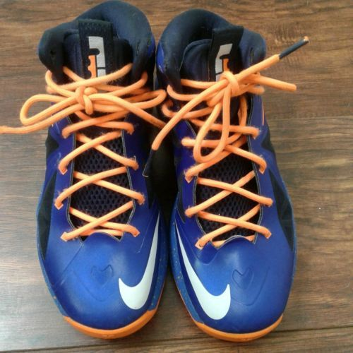 size 40 50824 41465 Nike air Lebron James X Cavs shoes kids boys youth size 5 Cavaliers