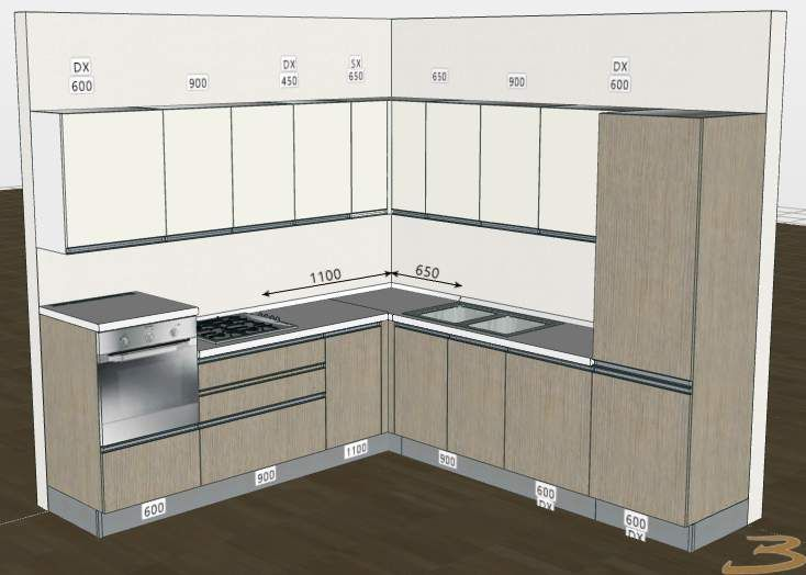 Cucina angolare con misure bucatarii moderne kitchen furniture design home - Cucina angolare misure ...