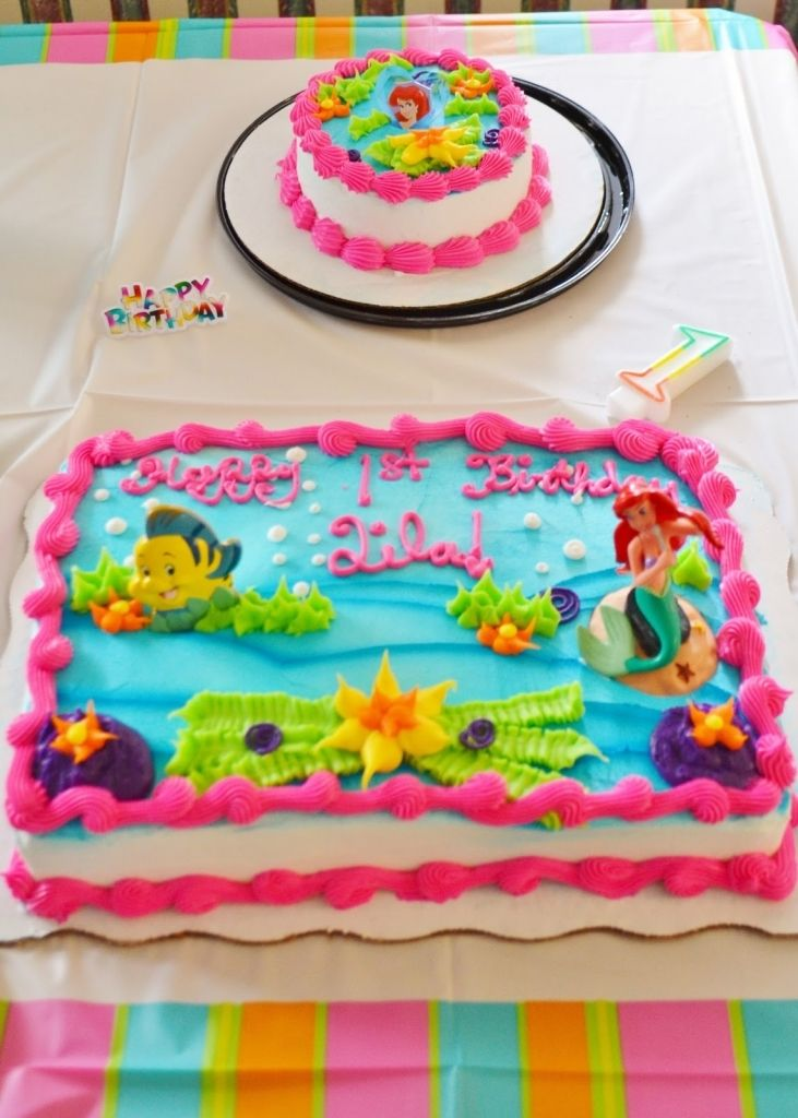 Little Mermaid Birthday Cake Walmart Ariel Cakes Sheet Lizzys For