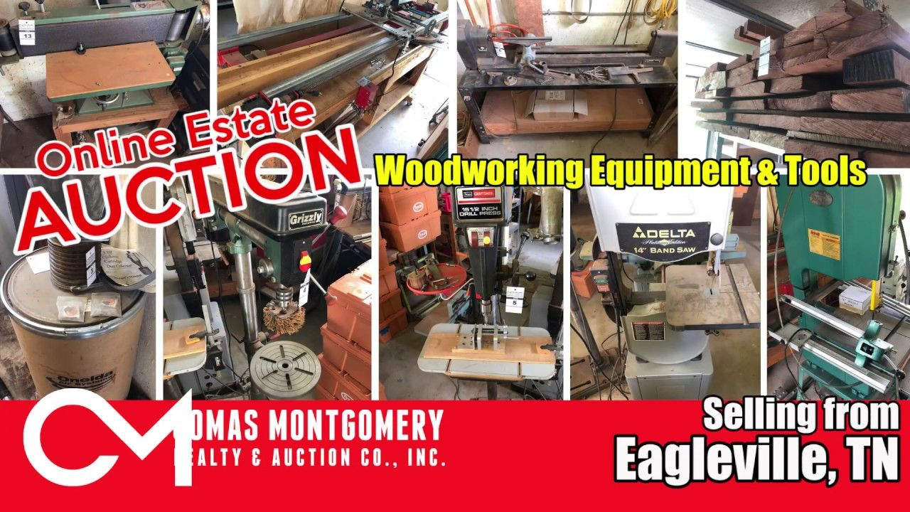 online estate auction: woodworking equipment & tools - ends