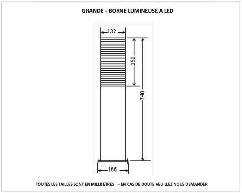 Borne Extérieure en Bois LED Grande | 1er | Locker storage ...