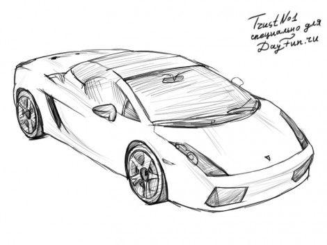 как рисуются автомобили типа ламборджини