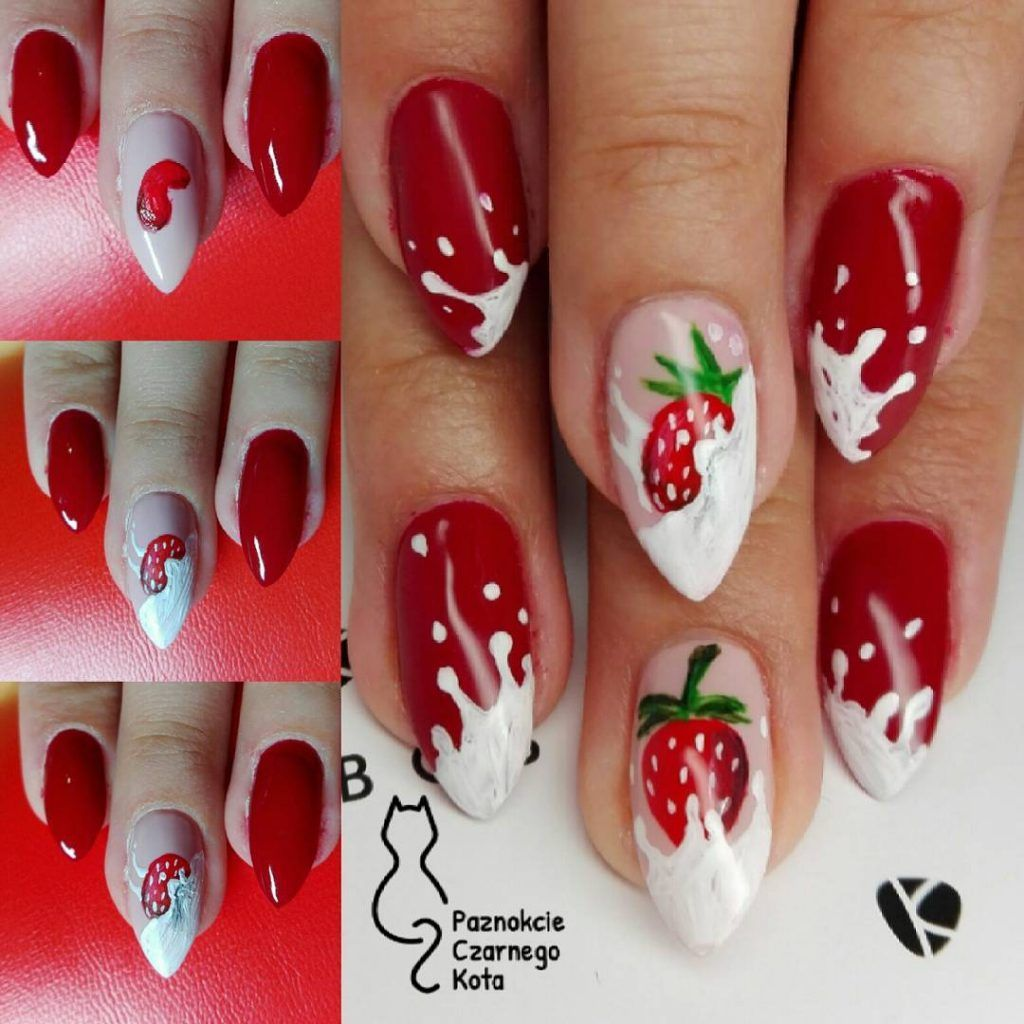 41+ Simple step-by-step photos of nail design for beginners. | Nail designs, Diy christmas nail ...