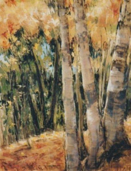 Golden Birch Trunk by Jean Galt (Canada)