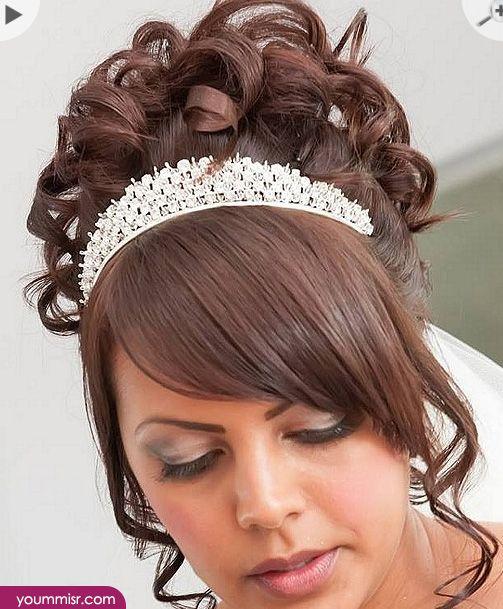 اجمل تسريحات شعر للعرائس 2016 بالتاج لبنانية انستقرام Brown Curly Hair Long Brown Hair Hair Styles