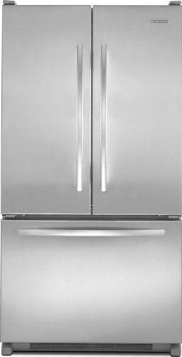 Kitchenaid KBFS20EVMS Counter Depth French Door Bottom Mount Refrigerator  19.8 Cu. Ft. KitchenAid