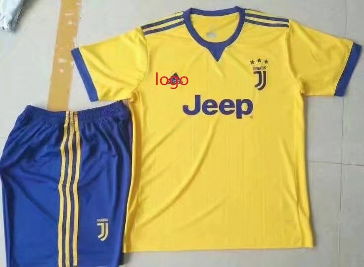 6a931c1d5ad 17-18 Cheap Adult Juventus Away Soccer Jersey Uniform Yellow Higuain 9 Men  Football Set Shirt+Short