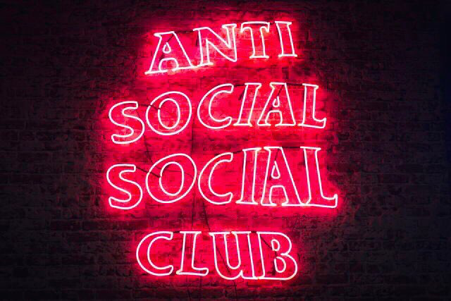 The Brand Anti Social Social Club Introduces Their Led Sign Of