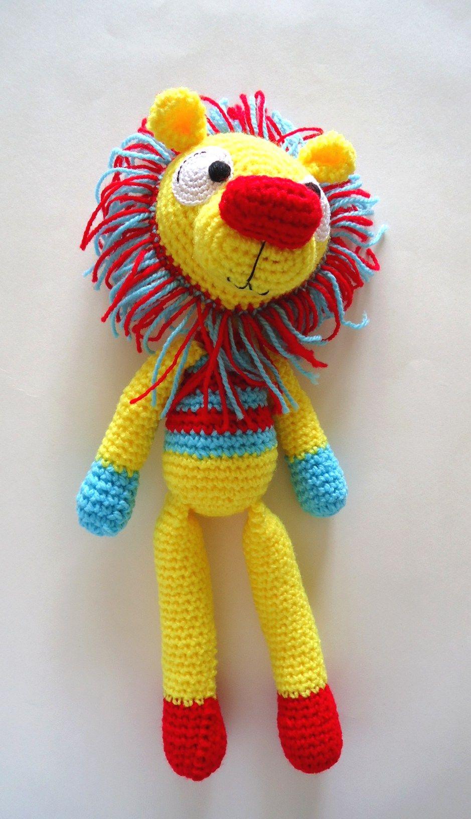 Excepcional Los Patrones De Crochet De Hilo Libre De Marca Del León ...