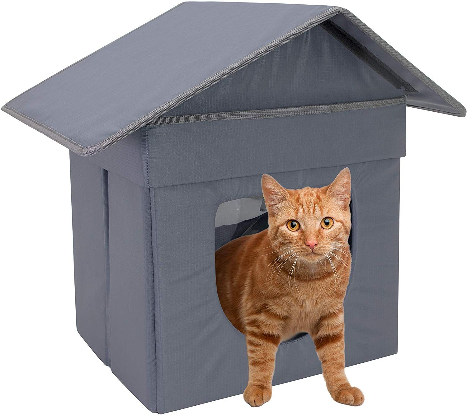 Kitty City Large Cat Bed Stackable Cat Cube Indoor Cat House Cat Condo Outdoor Cat House Cat Bed Cat Pet Supplies