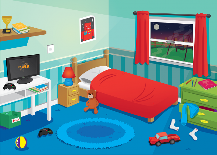 kids bedroom cartoon