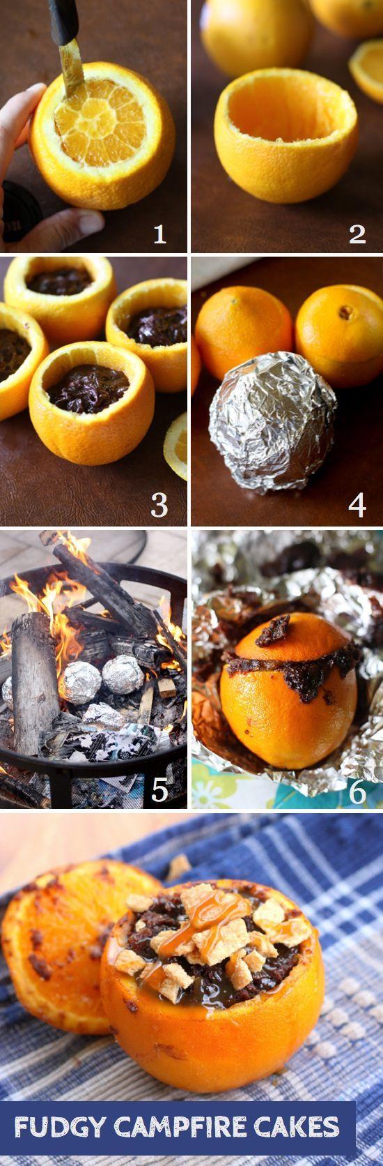 Fudgy Campfire Brownies   Campfire food, Campfire cake ...