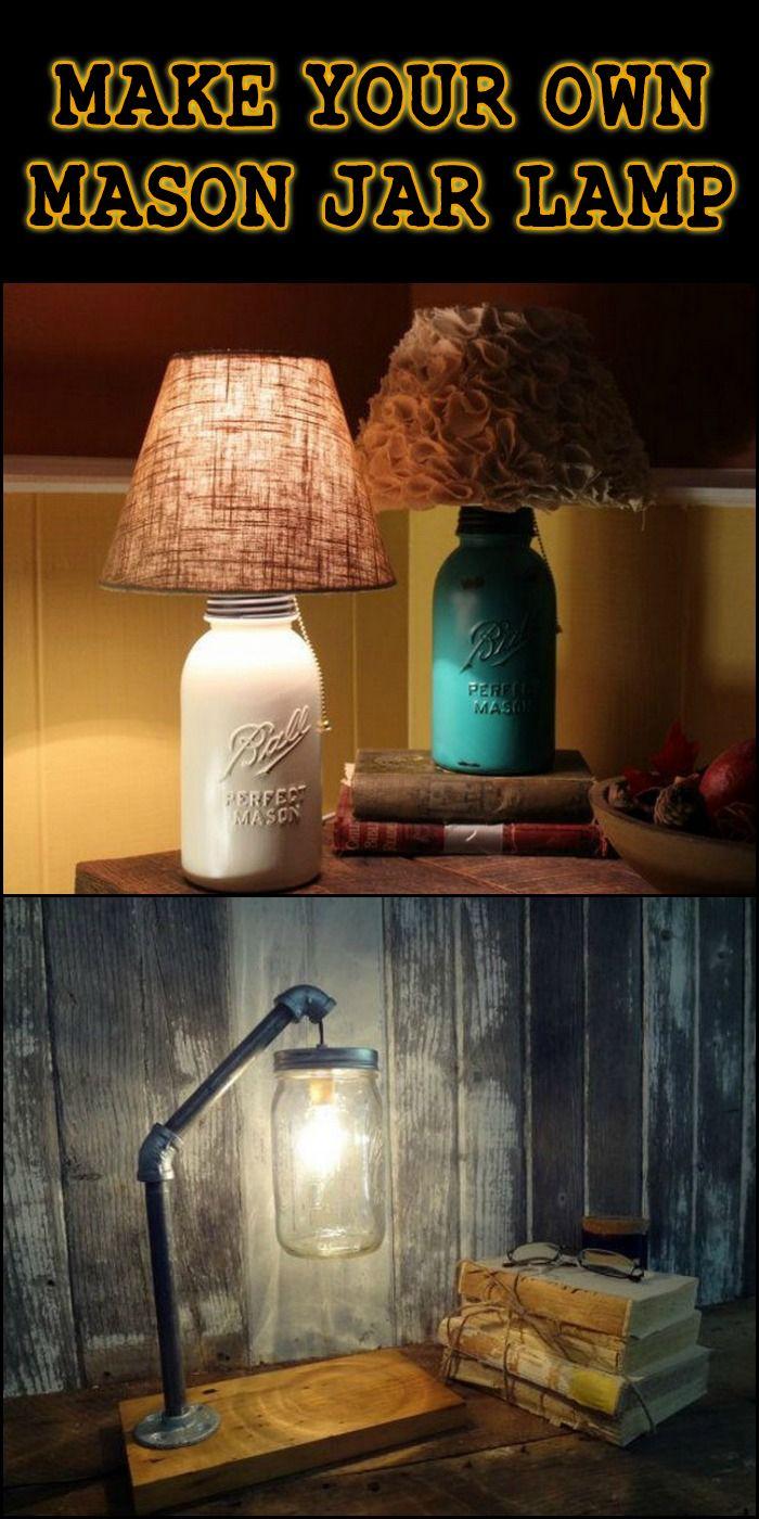 Diy Mason Jar Lamp Diy Table Lamp Mason Jar Diy Mason Jar Lamp