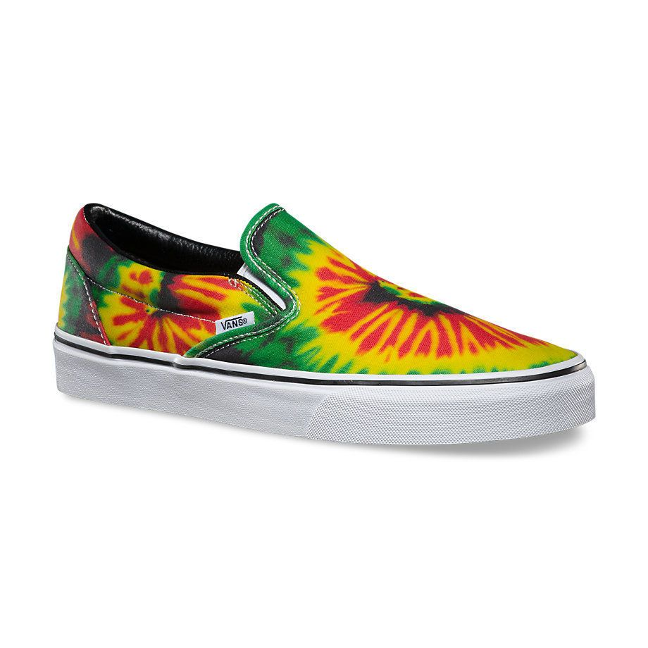 Details about VANS Classic Slip On Mens Shoes (NEW) Rasta