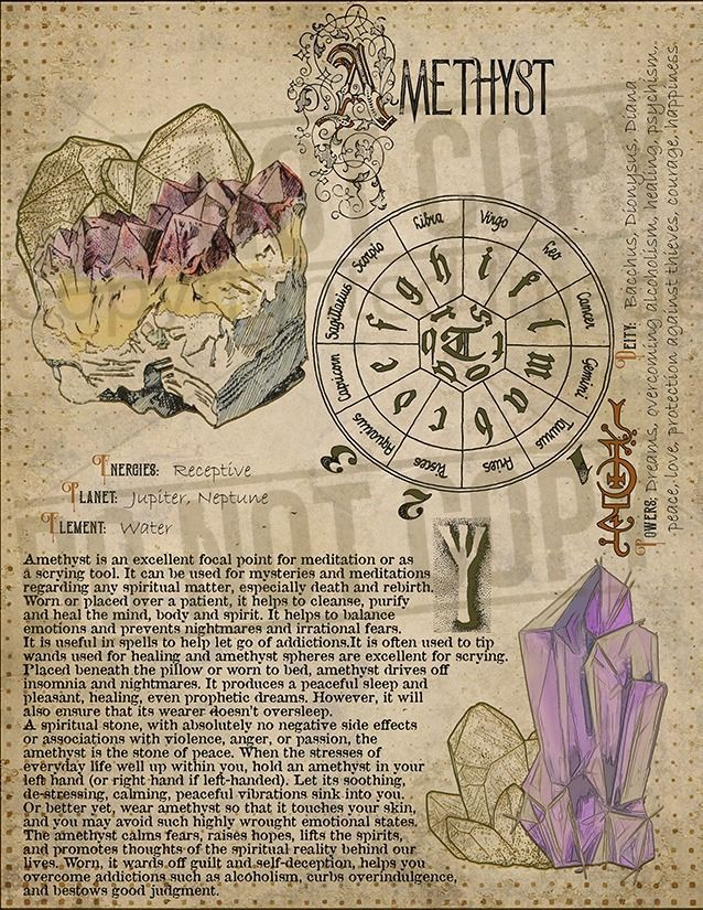 Photo of Book of Shadows, Printable pages of Crystals and Minerals, Witchcraft, BOS Sheets, Magic Potion, Spell Ingredient, Witch encyclopedia 1 DIY