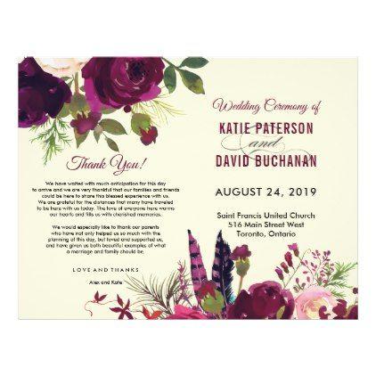 Boho Burgundy Beige Watercolor Wedding Flyer  Weddings And Wedding