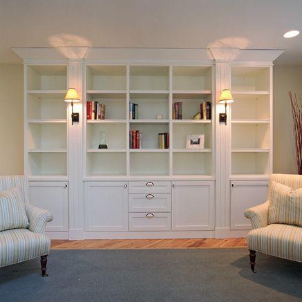 Bookshelves Stylish White Built In Bookshelf Design Plans Modern Ideas