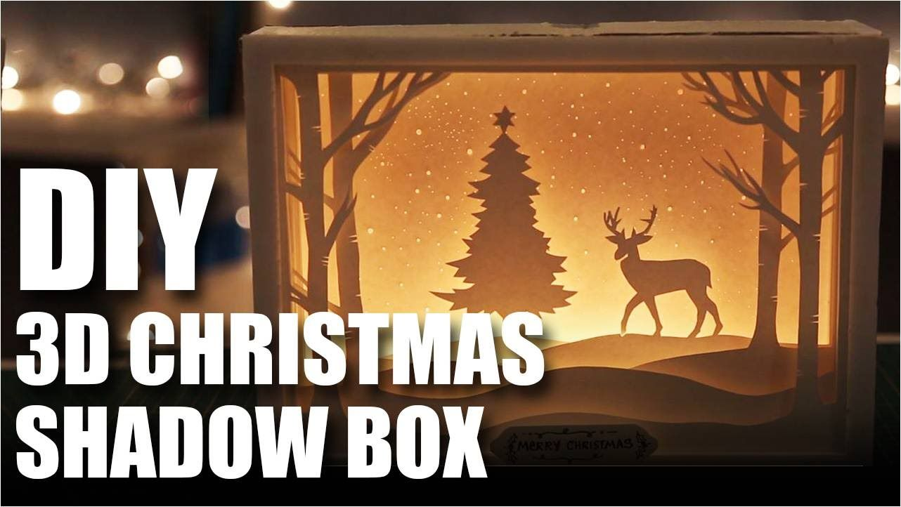 diy shadow box with lights
