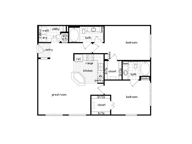 1 2 Bedroom Luxury Apartments Houston Texas Floor Plans Shed Plans House Floor Plans