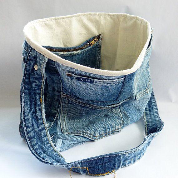 Upcycled Denim Tote Bag 001