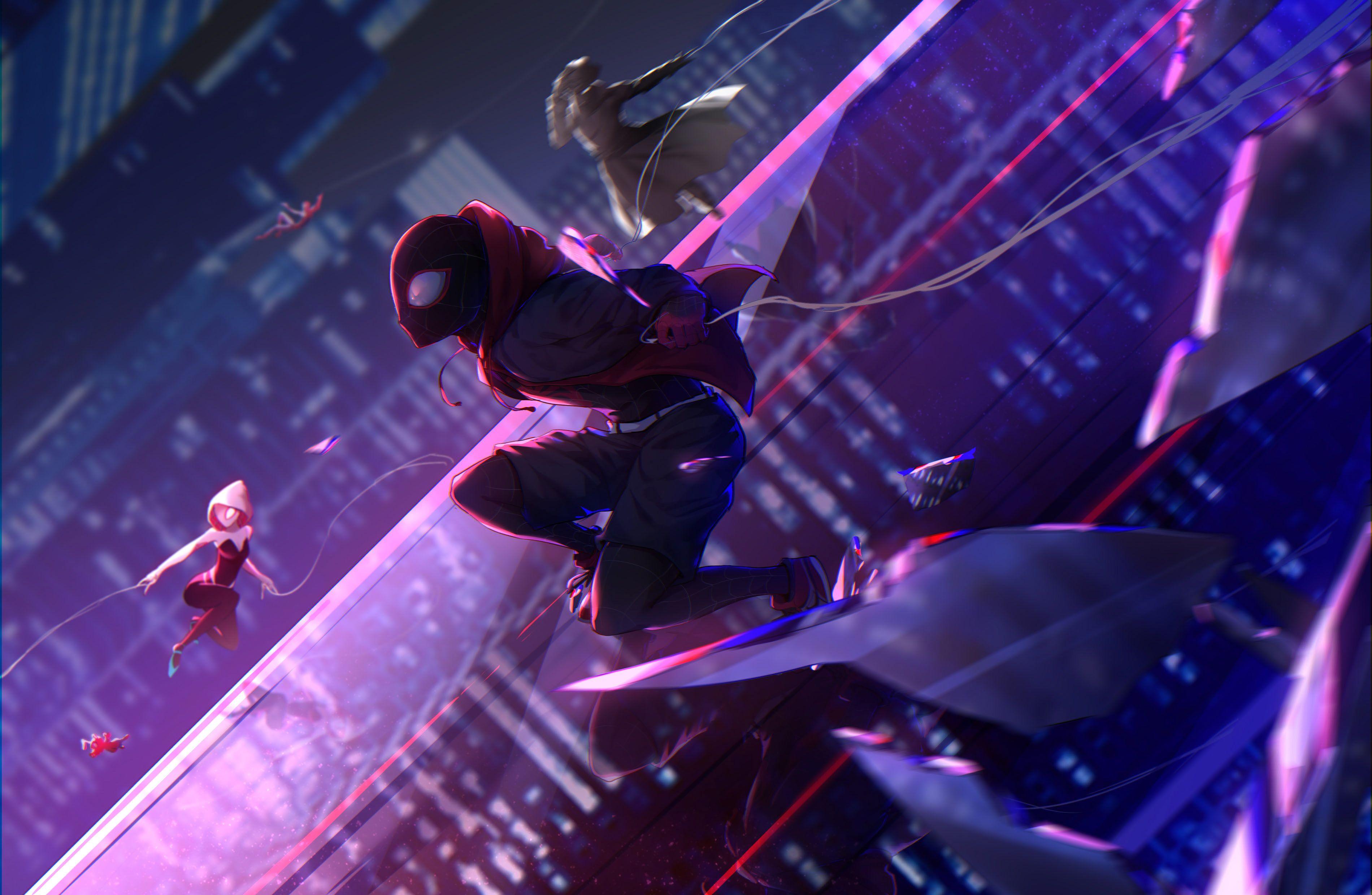 Movie Spider Man Into The Spider Verse Miles Morales 2k Wallpaper Hdwallpaper Into The Spider Verse Wallpaper Spider Verse Wallpaper Into The Spider Verse