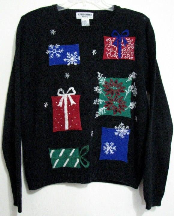 Alfred Dunner Petite S Christmas Sweater Mercari Crew