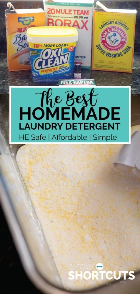 The Best Homemade Laundry Detergent Recipe Homemade Laundry