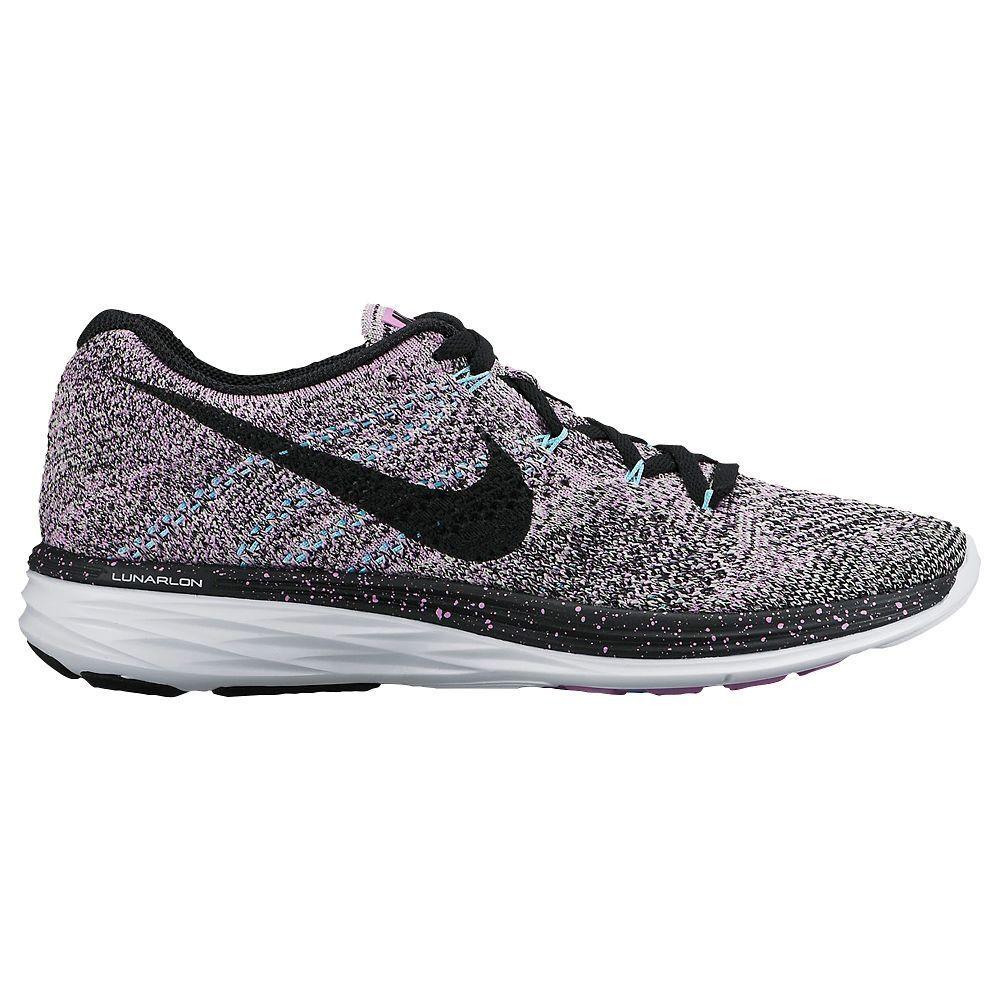 premium selection 289e1 09357 Nike Flyknit Lunar 3 - Women s - Running - Shoes - Fuchsia Glow Black