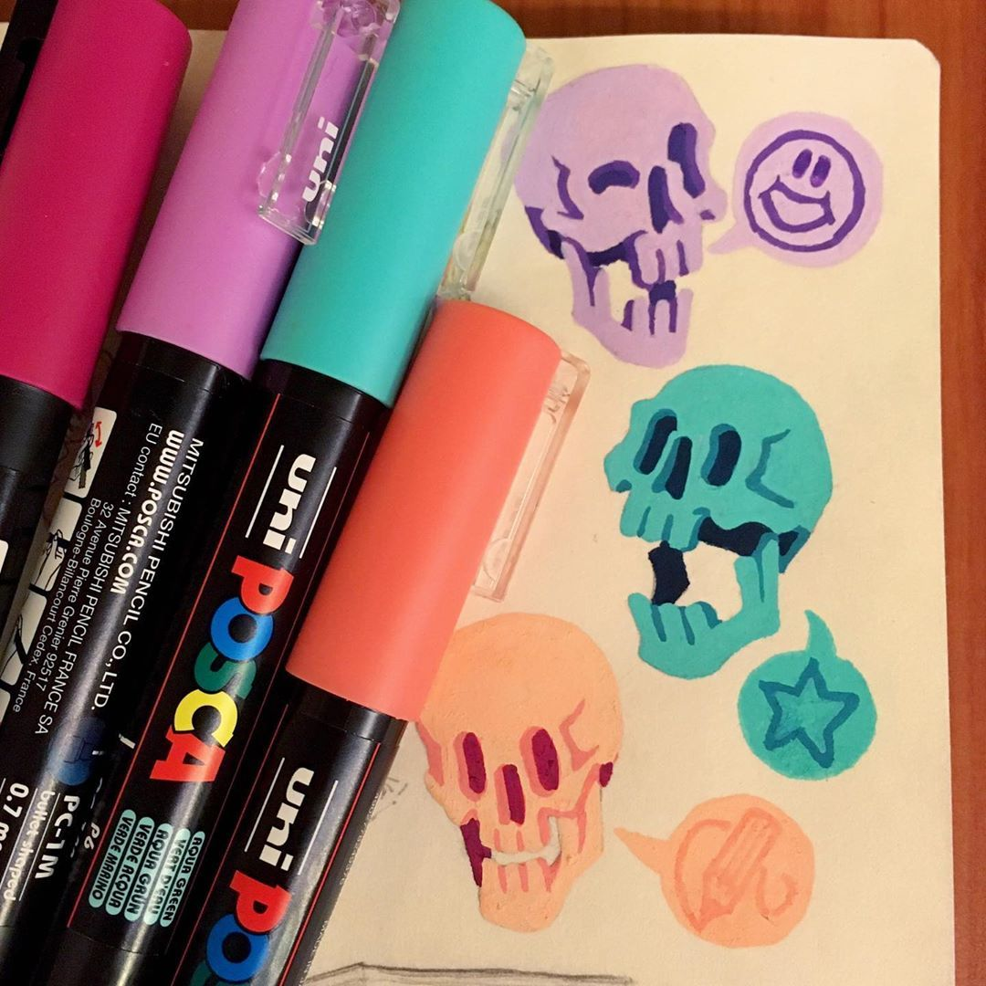 Heyo Have Some Colourful Bois Drawn With Posca Paint Pens Drawing Draw Doodle Sketchbook Paint Pens Posca Co Marker Art Art Sketch Book