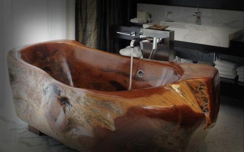 Attraktive Badezimmer Mit Badewannen Aus Holz Einrichtungsideen